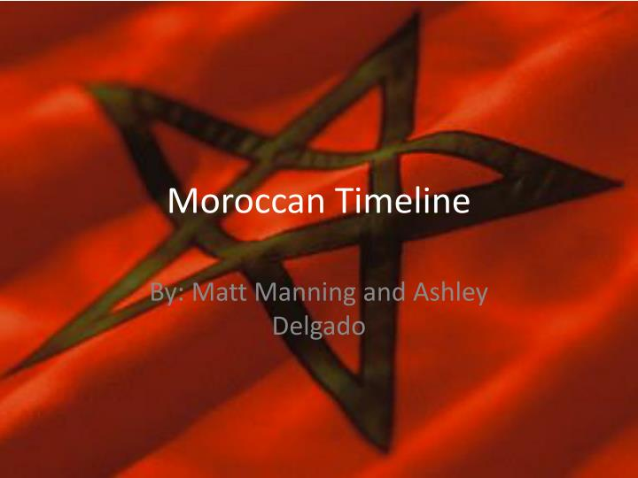 Moroccan timeline