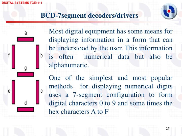 BCD-7segment decoders/drivers