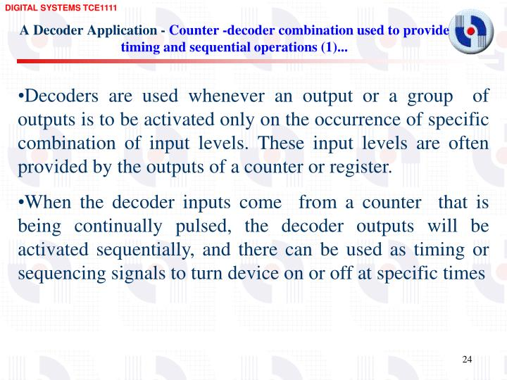 A Decoder Application -