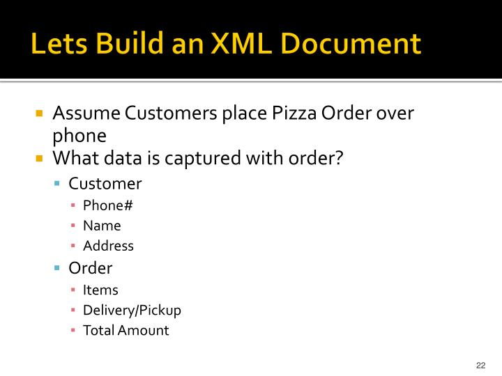 Lets Build an XML Document