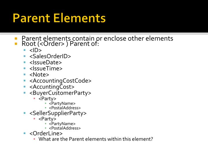 Parent Elements