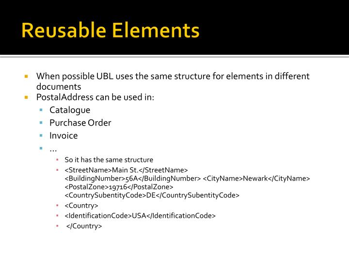 Reusable Elements