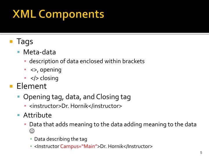 XML Components