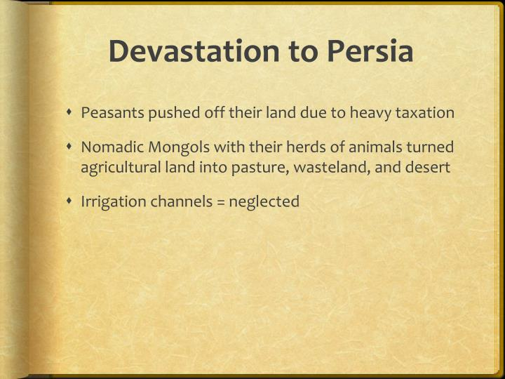 Devastation to Persia