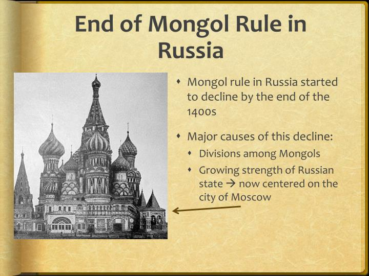 End of Mongol Rule in Russia