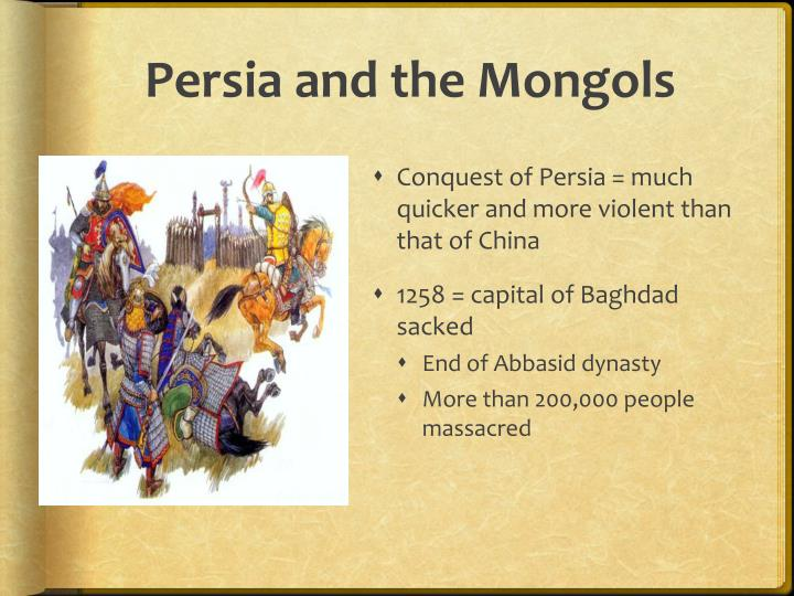 Persia and the Mongols