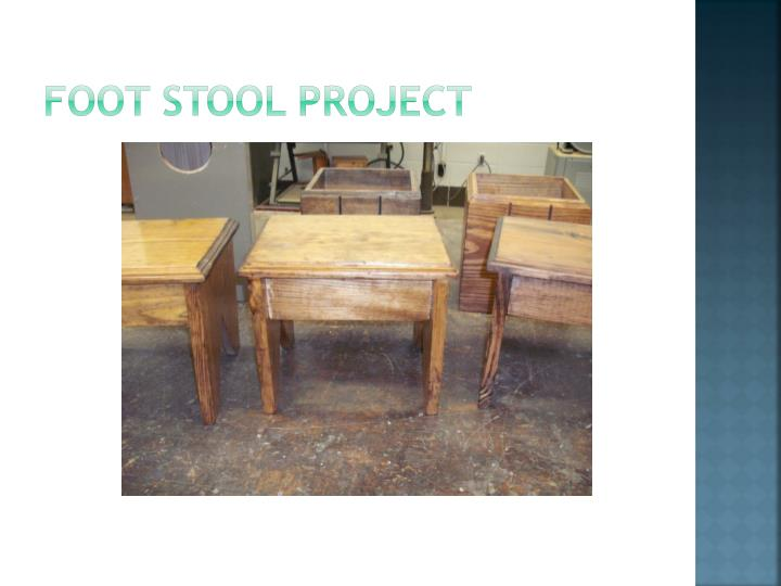 Foot stool project
