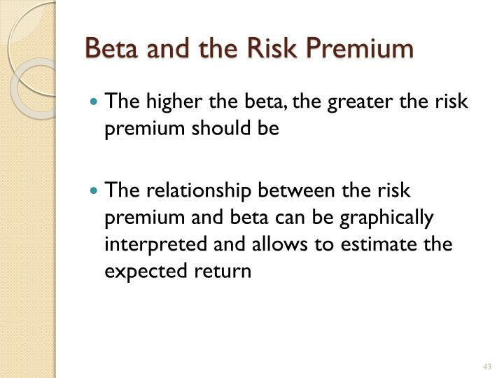 Beta and the Risk