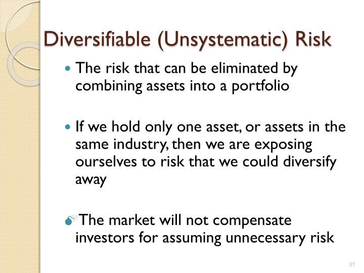 Diversifiable (Unsystematic) Risk