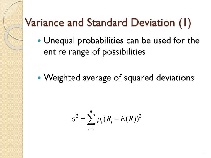 Variance and Standard