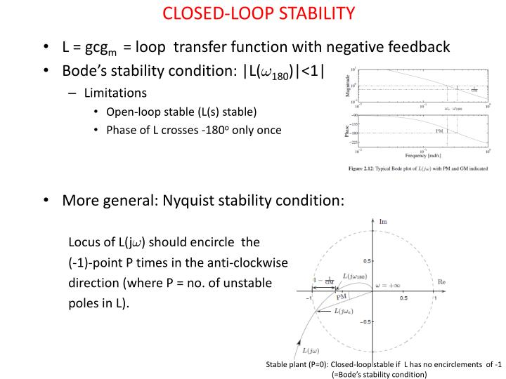 CLOSED-LOOP STABILITY