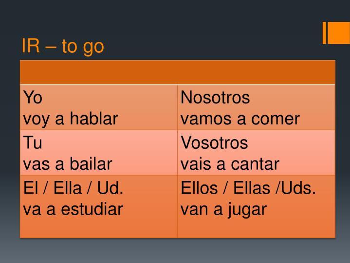 IR – to go