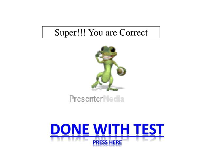 Done with test