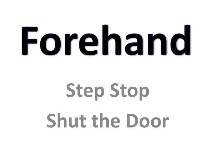 Step stop shut the door