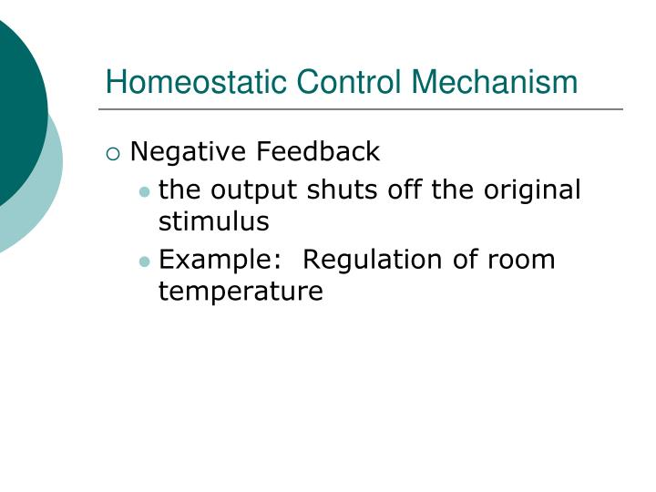 Homeostatic Control Mechanism