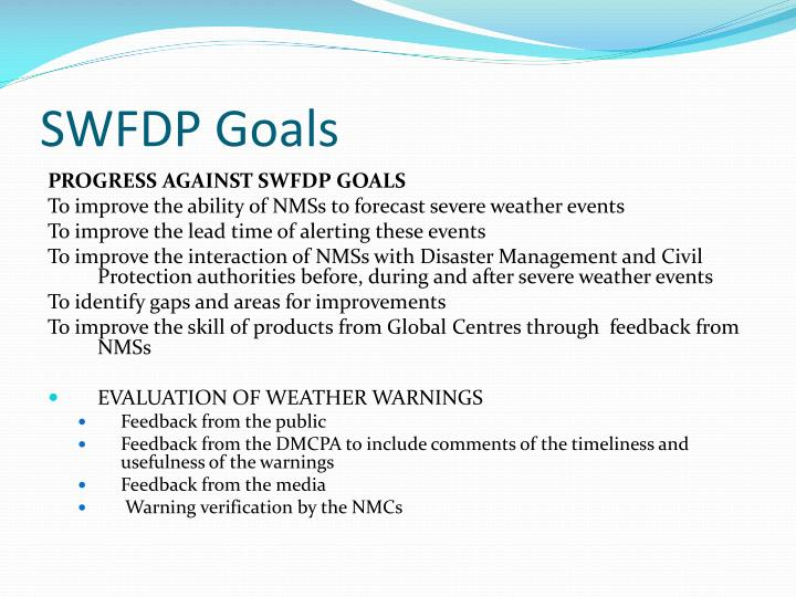 SWFDP Goals