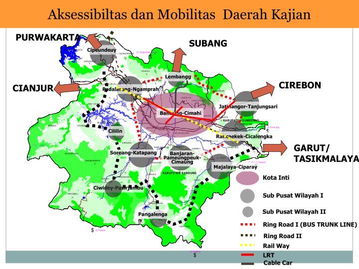 Aksessibiltas dan Mobilitas  Daerah Kajian