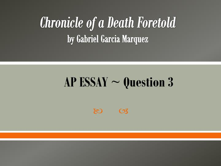 chronicle of a death foretold honor essays Failure of authority one of the themes evident in chronicle of a death foretold is the failure of legal and moral authority in a time of crisis gabriel garcía márquez was critical of political and religious leadership in colombia for failing to address real problems of the people.