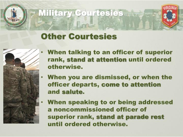 Military Courtesies