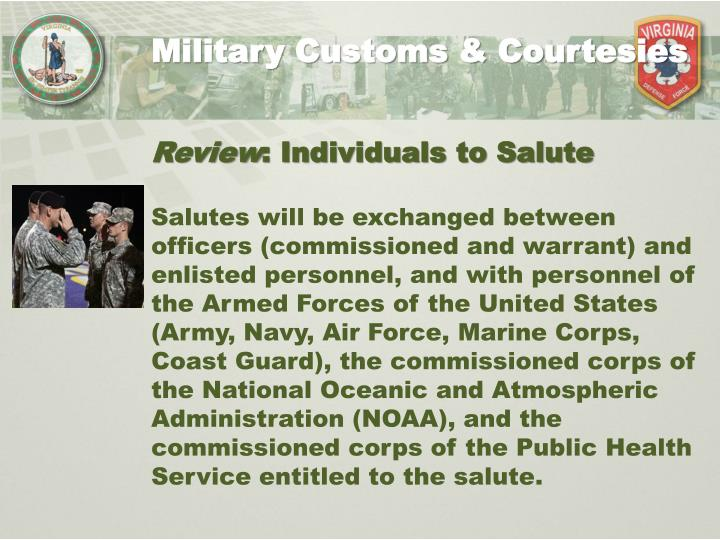 Military Customs & Courtesies
