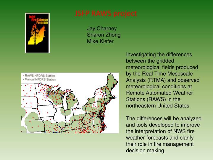 JSFP RAWS project