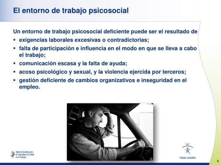 El entorno de trabajo psicosocial
