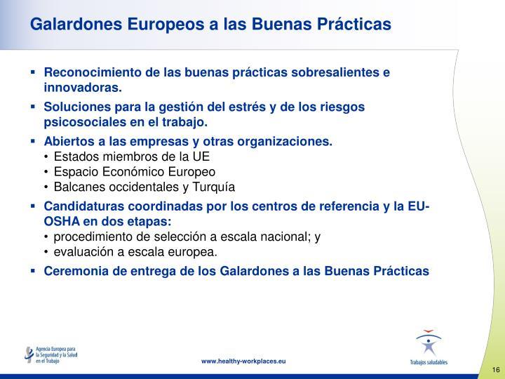 Galardones Europeos a las Buenas Prácticas