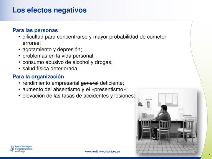 Los efectos negativos
