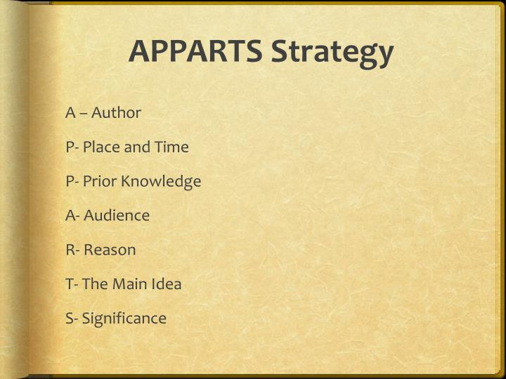 APPARTS Strategy