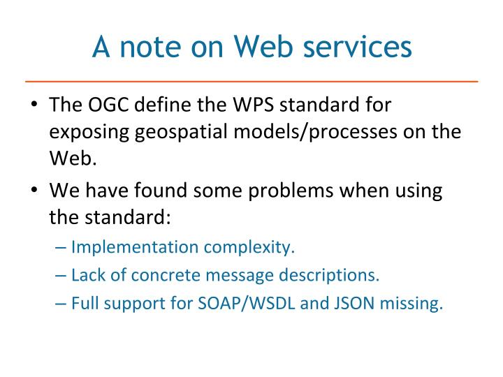A note on Web services