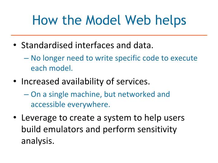 How the Model Web helps