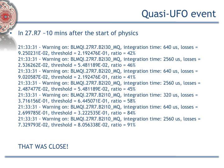 Quasi-UFO event