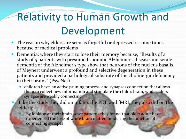 Relativity to Human Growth and Development