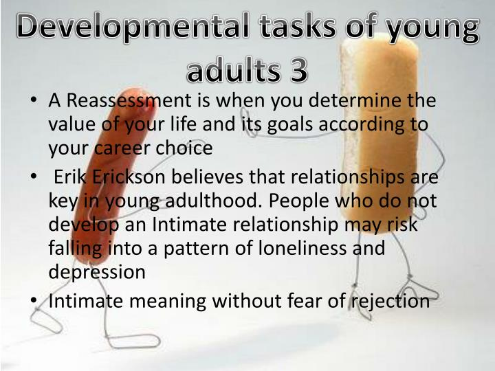 Developmental tasks of young adults 3