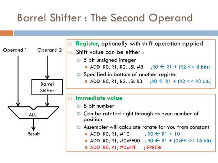 Barrel Shifter : The Second Operand