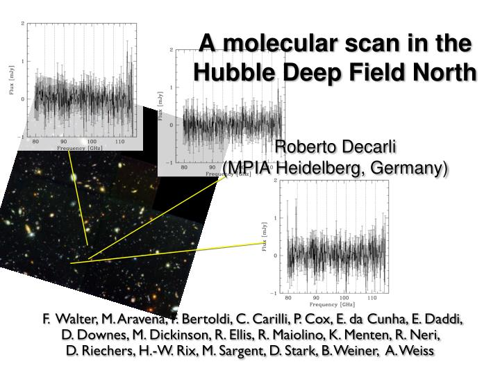 A molecular scan in the hu bble deep field north roberto decarli mpia heidelberg germany