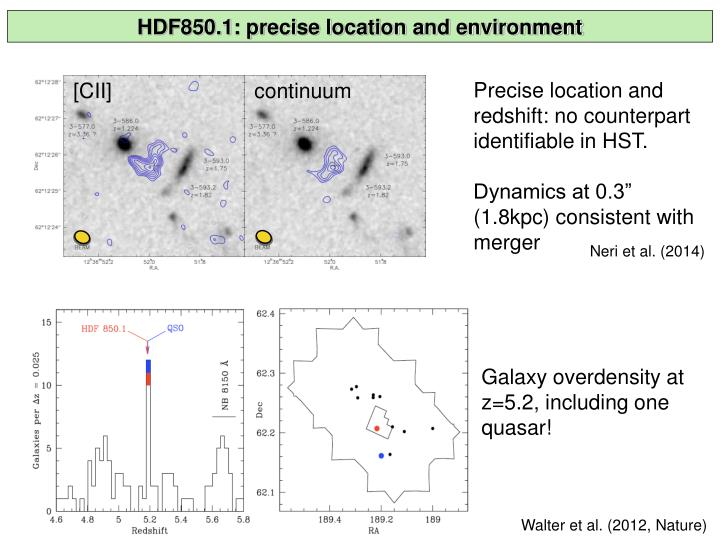 HDF850.1: precise location and environment