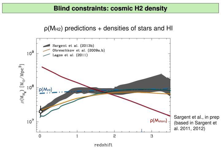 Blind constraints: cosmic H2 density