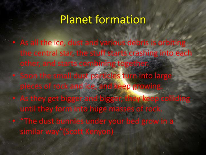 Planet formation