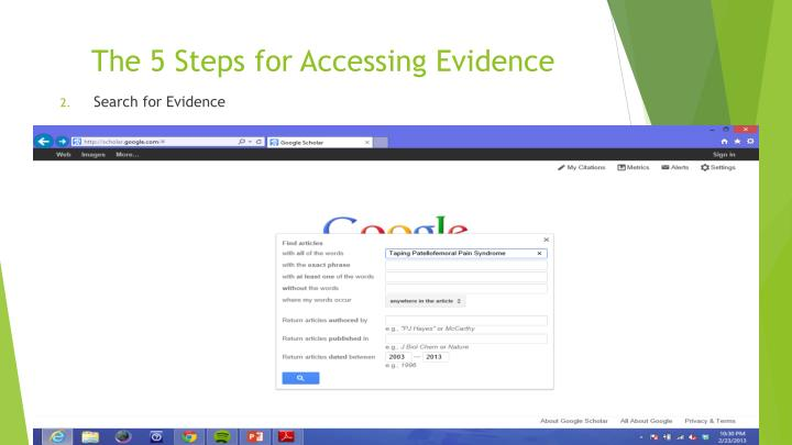 The 5 Steps for Accessing Evidence