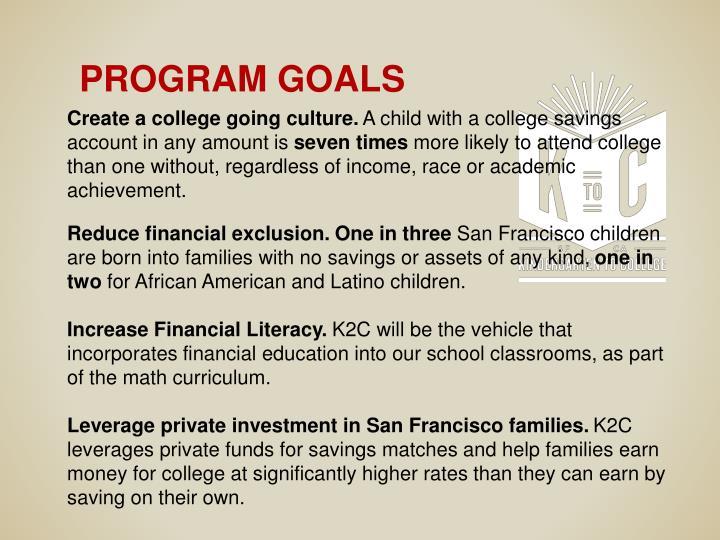 Create a college going culture.