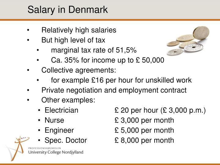 Salary in Denmark