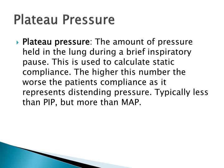Plateau Pressure