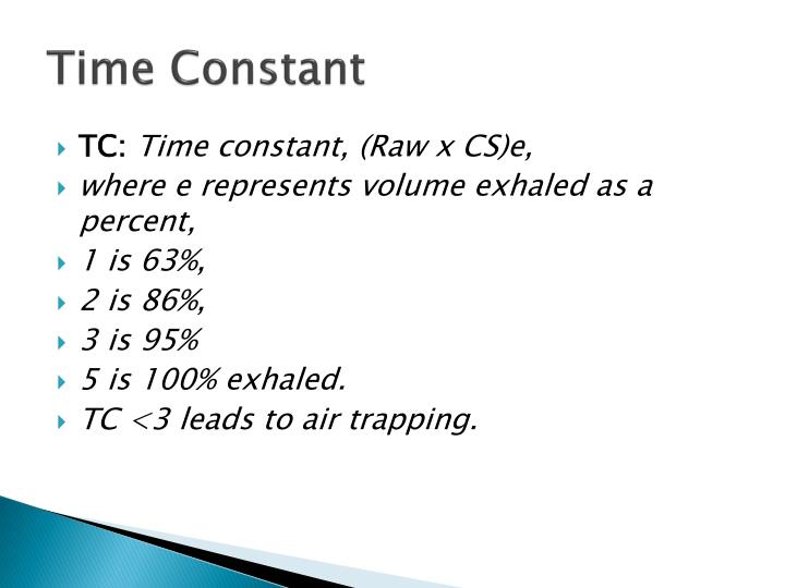 Time Constant