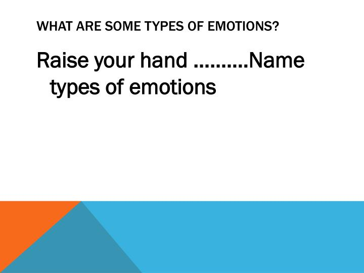 What are some Types of Emotions?