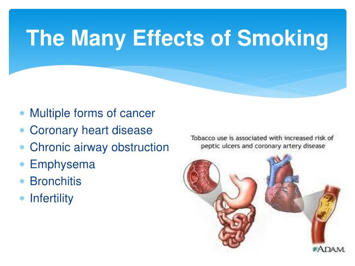 The Many Effects of Smoking