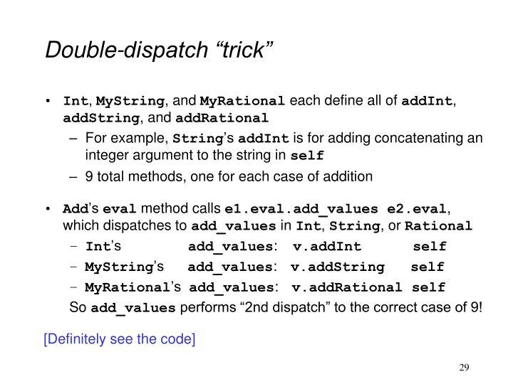 """Double-dispatch """"trick"""""""