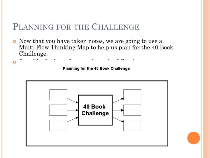 Planning for the Challenge