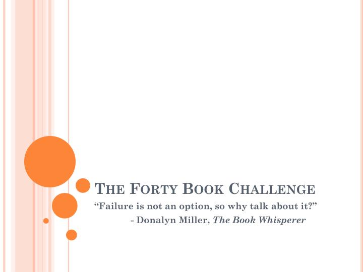 The forty book challenge