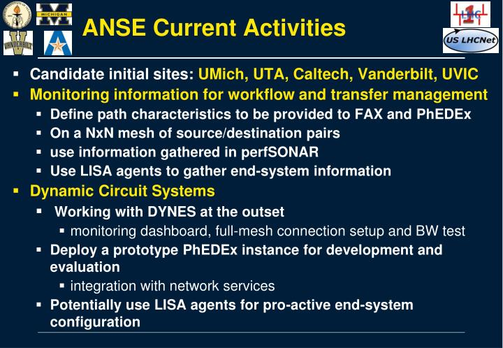 ANSE Current Activities